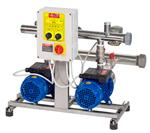 with 2 horizontal multistage electric pumps