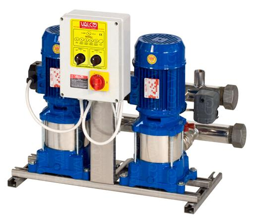 with 2 vertical multistage electric pumps