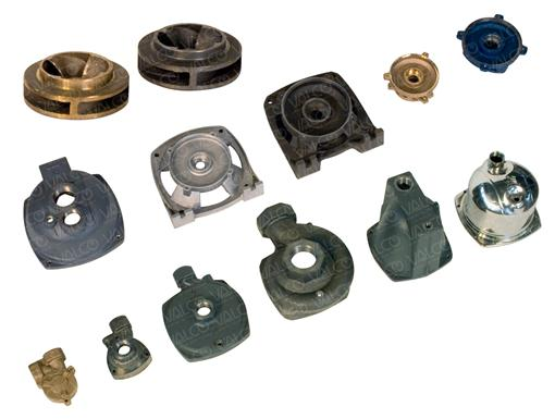 Cast Iron , Bronze, Stainless Steel, Aluminium, Stainless Steel Stampings: Pump Bodies, Brackets, Impellers, Diffusers, Shields, Flanges, etc.