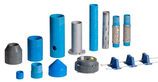 V-CASINGS Pipes and Fittings for Borehole Wells