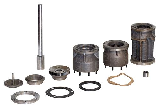 "Pump Components for Submersible Borehole Electric Pumps from 6 to 24"" wells"