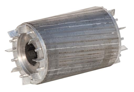 Stator laminations in iron steel sheets or magnetic silicon sheets (packs) with rotor diecast