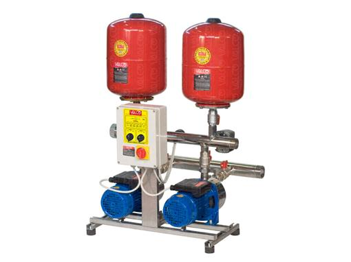 Awssj-2spt - with 2 pumps and controlled by electric panel starter with pressure switch and with 2 units of 19 litre tank