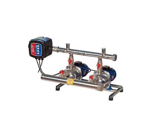 Awssj-2tch -with 2 pumps controlled by 1 TC-Drive twin-electronic controller. Special execution for water for human consumption per EU directive 98/83/CE