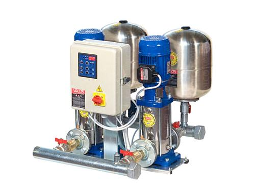 Awssn-2spth - with 2 pumps and controlled by electric panel. Special execution for water suitable for human consumption following EU directive 98/83/CE