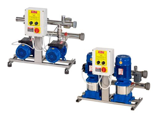 Awssnb-2sp - with 2 pumps and controlled by electric panel starter with pressure switch