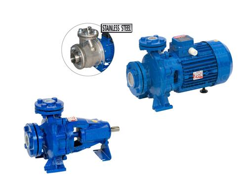 Centrifugal Single Stage DIN-EN standard cast iron and stainless steel pumps