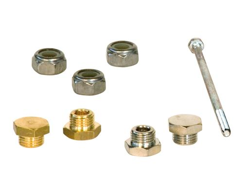 Tie rods, self-locking nuts, plugs, high precision metal parts custom made